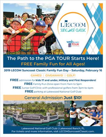 Grapevine Communications Case Study: Leecom Suncoast Classic invitation